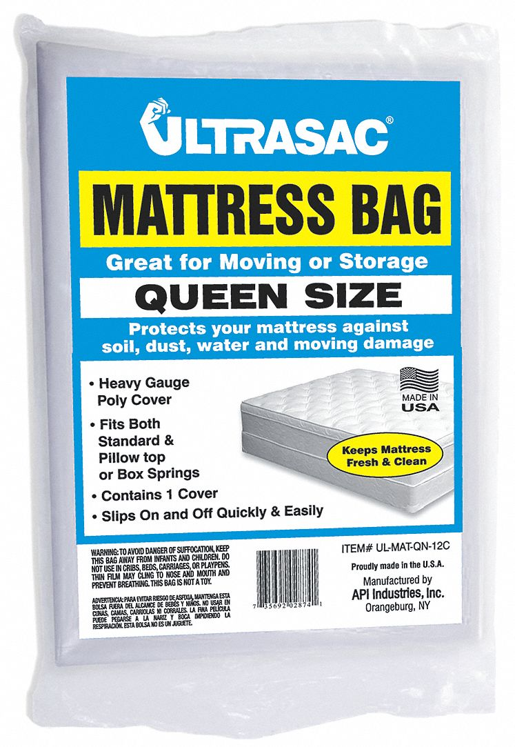 queen size mattress bag clear 15 mil thickness model 4nzf8