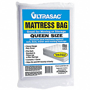 Queen Size Mattress Bag, Clear, 2 mil Thickness