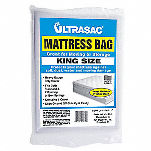 King, Pillow Top Size Mattress Bag, Clear, 2 mil Thickness