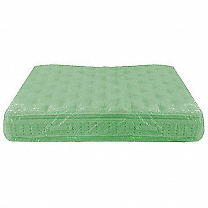 Twin Size Mattress Bag, Green Tint, 2.5 mil Thickness