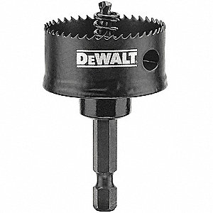 "1-1/2""-Dia. Impact Rated Hole Saw for Metal, 1/2"" Max. Cutting Depth, 10 Teeth per Inch"
