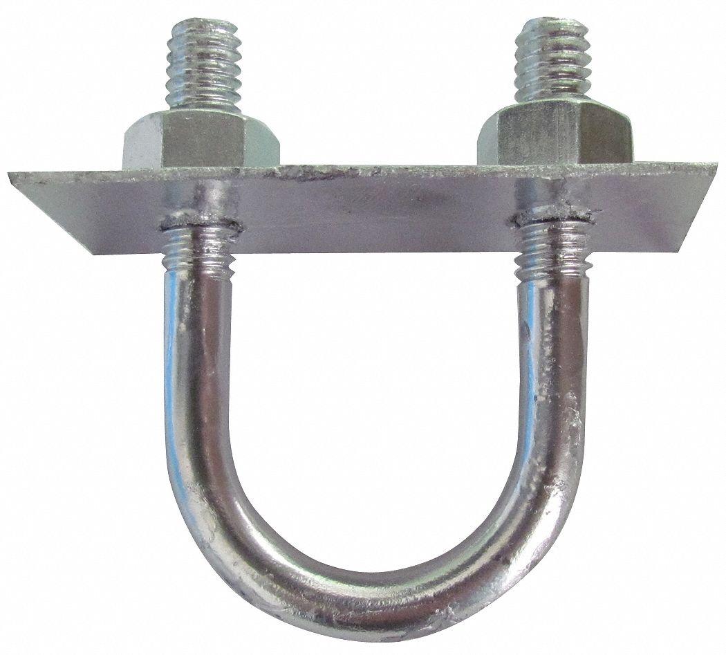 1-1//8 Thread Length Fabory U-Bolt Plain 5//16-18 Round Bend 1 Each 304 Stainless Steel
