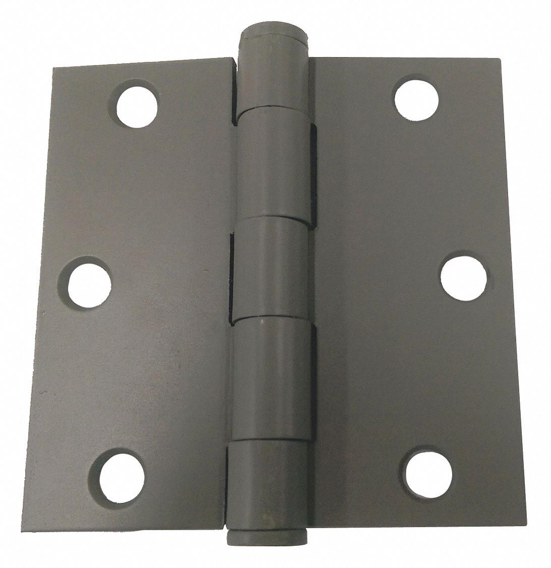 GRAINGER APPROVED 4LVH4 Post Hinge,Steel,2-3//8 In Dia.
