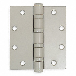 "5"" x 4"" Butt Hinge with Gray Enamel Finish, Full Mortise Mounting, Square Corners"