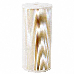 "5 Micron Rating Filter Cartridge, 4-1/2"" Diameter, 9-3/4"" Height, 20.00 gpm"