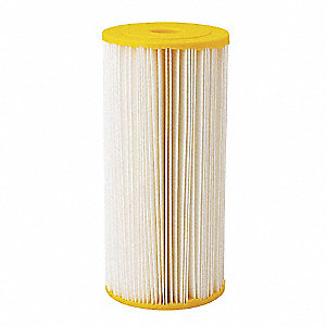 Pleated Filter Cartridge, 50 Microns, Cellulose Polyester Filter Media, 20 gpm Flow Rate