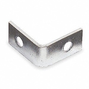 "3/4 in"" x 1/2 in"" Steel Corner Brace with Zinc Finish"