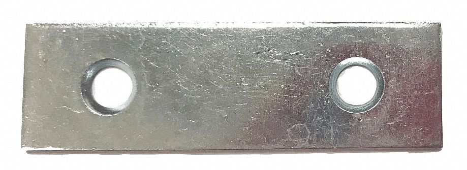 "2 in"" x 5/8 in"" Steel Mending Plate with Zinc Finish"