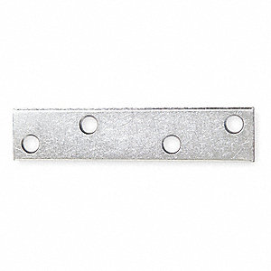 "4"" x 7/8"" Steel Mending Plate with Zinc Finish"