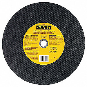 "14"" Type 1 Aluminum Oxide Abrasive Cut-Off Wheel, 1"" Arbor, 7/64""-Thick, 4300 Max. RPM"