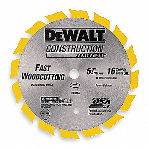 "5-3/8"" Carbide Ripping Circular Saw Blade, Number of Teeth: 16"