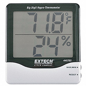 Indoor Digital Hygrometer,14 to 140 F