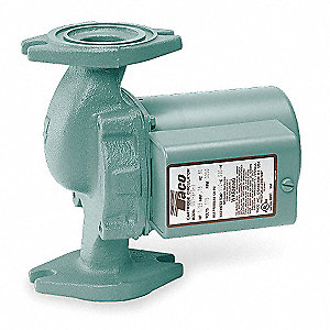 1/8 HP Cast Iron In Line, Wet Rotor Hot Water Circulator Pump