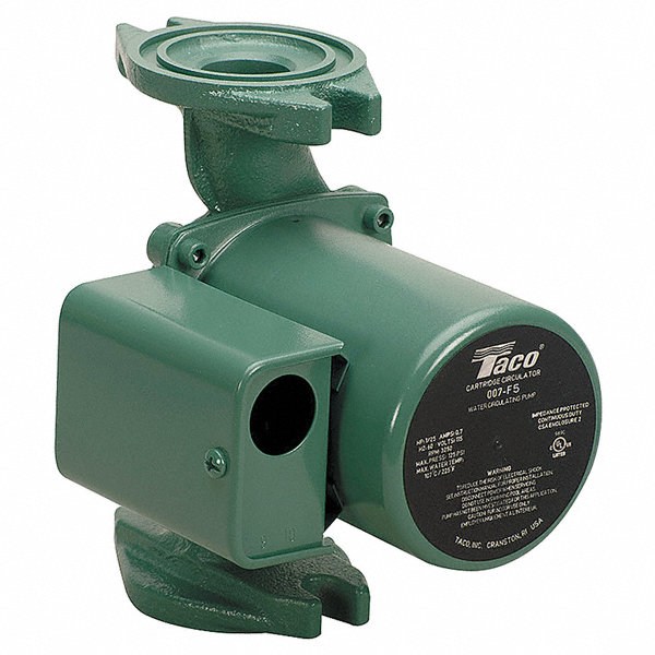 taco hp cast iron in line wet rotor hot water circulator taco 1 25 hp cast iron in line wet rotor hot water circulator pump 4pc90 007 f5 grainger