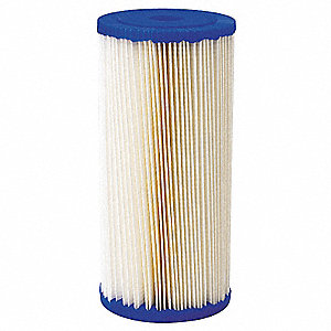 "20 Micron Rating Filter Cartridge, 4-1/2"" Diameter, 9-3/4"" Height, 20.00 gpm"