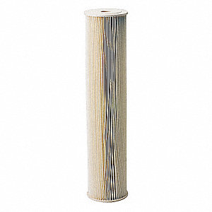 "5 Micron Rating Filter Cartridge, 4-1/2"" Diameter, 20"" Height, 20.00 gpm"