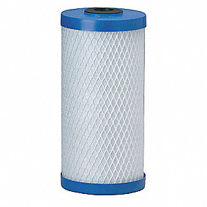 Carbon Filter Cartridge, 5 Microns, Carbon Block Filter Media, 2 gpm Flow Rate