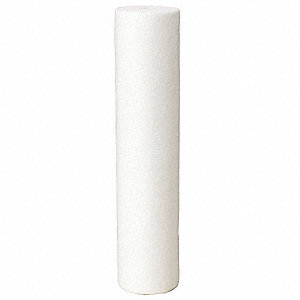 "25 Micron Rating Graded Density Filter Cartridge, 4-1/2"" Diameter, 20"" Height, 20.00 gpm"