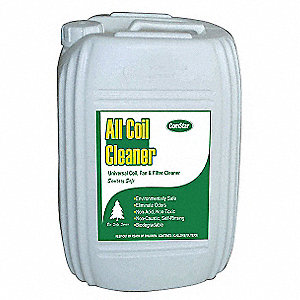 Condenser or Evaporator Cleaner, 5 gal., Yellow Color, 1 EA