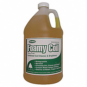 Condenser Cleaner, 1 gal., Yellow Color, 1 EA