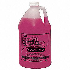 Condenser Cleaner, 1 gal., Pink Color, 1 EA