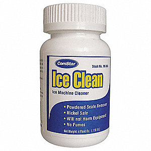Ice Machine Cleaner, 4 Oz, White Color, 1 EA