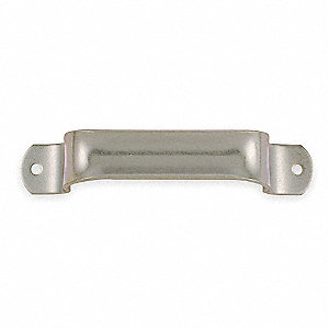 Steel Pull Handle with Polished Zinc Finish, Silver; Hardware Included