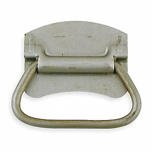 Steel Folding Pull Handle with Natural Finish, Natural; Hardware Not Included