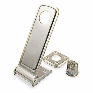 "Conventional Rotating Eye Hasp, 7/8""H x 1-1/2""W x 4-1/2""L, Zinc Plated Finish"