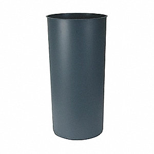 "12-1/8 gal. Gray Rigid Trash Can Liner, 13"" Width, 27-1/4"" Height"