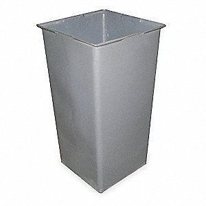 "50 gal. Gray Rigid Trash Can Liner, 18-1/2"" Width, 34"" Height"