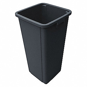 25 gal. Gray Rigid Trash Can Liner, 15-3/4'' Length, 15-3/4'' Width, 30-7/8'' Height