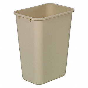 10-1/4 gal. Rectangular Beige Trash Can