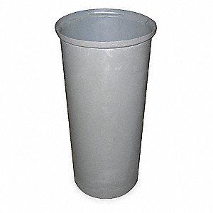 "11 gal. Round Open Top Utility Trash Can, 19-1/4""H, Gray"