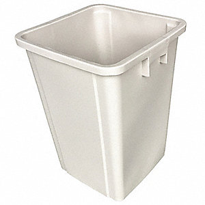 Trash Can,Square,19 gal.,Beige