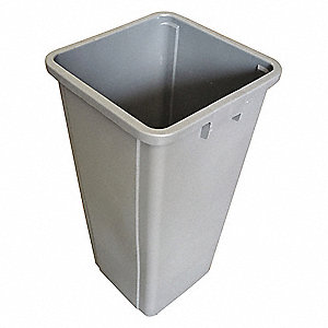 "23 gal. Gray Rigid Trash Can Liner, 15-5/8"" Length, 15-7/8"" Width, 30-7/8"" Height"