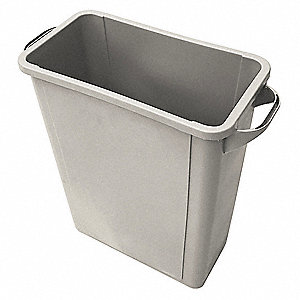 16 gal. Rectangular Beige Trash Can