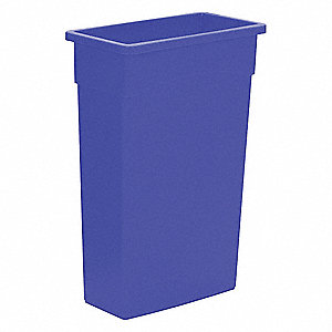 23 gal. Rectangular Blue Trash Can