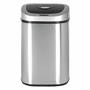 13 gal. Oval Silver Trash Can
