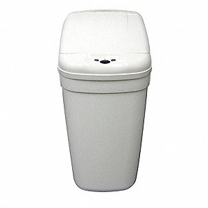 Wastebasket,Rectangular,5 gal.,White