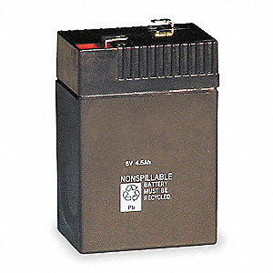 Lead Calcium Battery, 4Ah Battery Capacity, For Use With Mfr. No. LHQM SW3RM4, LHQM S W 3 G 120/277,
