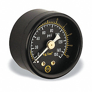 "1-1/2"" General Purpose Pressure Gauge, 0 to 150 psi"