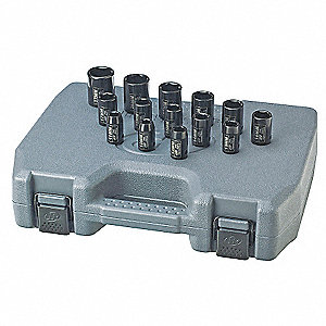 Impact Socket Set,1/2 In Dr,14 pc