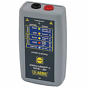 Voltage Data Logger,0 to 600VAC/DC