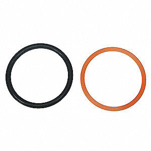 Hytrel, Buna N Piston Seal Kit, Black; Number of Pieces: 6