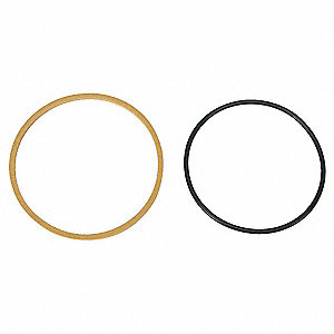 15 Percent Glass Filled PTFE, Buna N Piston Ring Set, Gold, Black&#x3b; Number of Pieces: 2