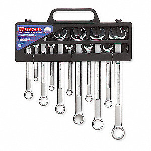 COMBO WRENCH SET,SATIN,5/16-15/16IN