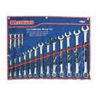 COMBO WRENCH SET,SATIN,1/4-1-1/4 IN