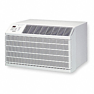 208/230V Wall Air Conditioner w/Heat, Cool Gray, Includes: Remote Control, Washable, Reusable Air Fi