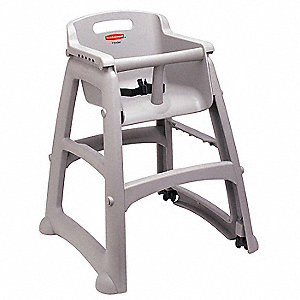 Youth High Chair, Platinum